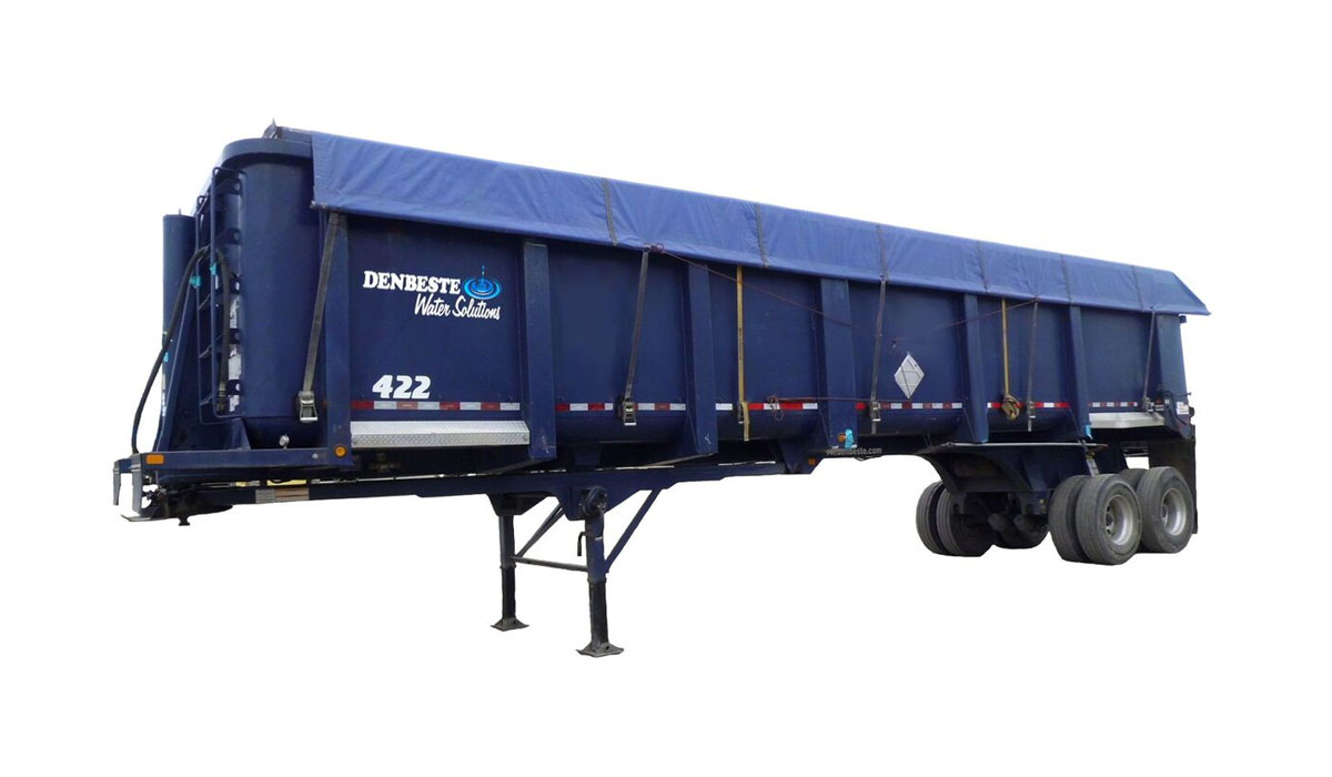 High Side Trailers at DenBeste Environmental Rental Equipment.