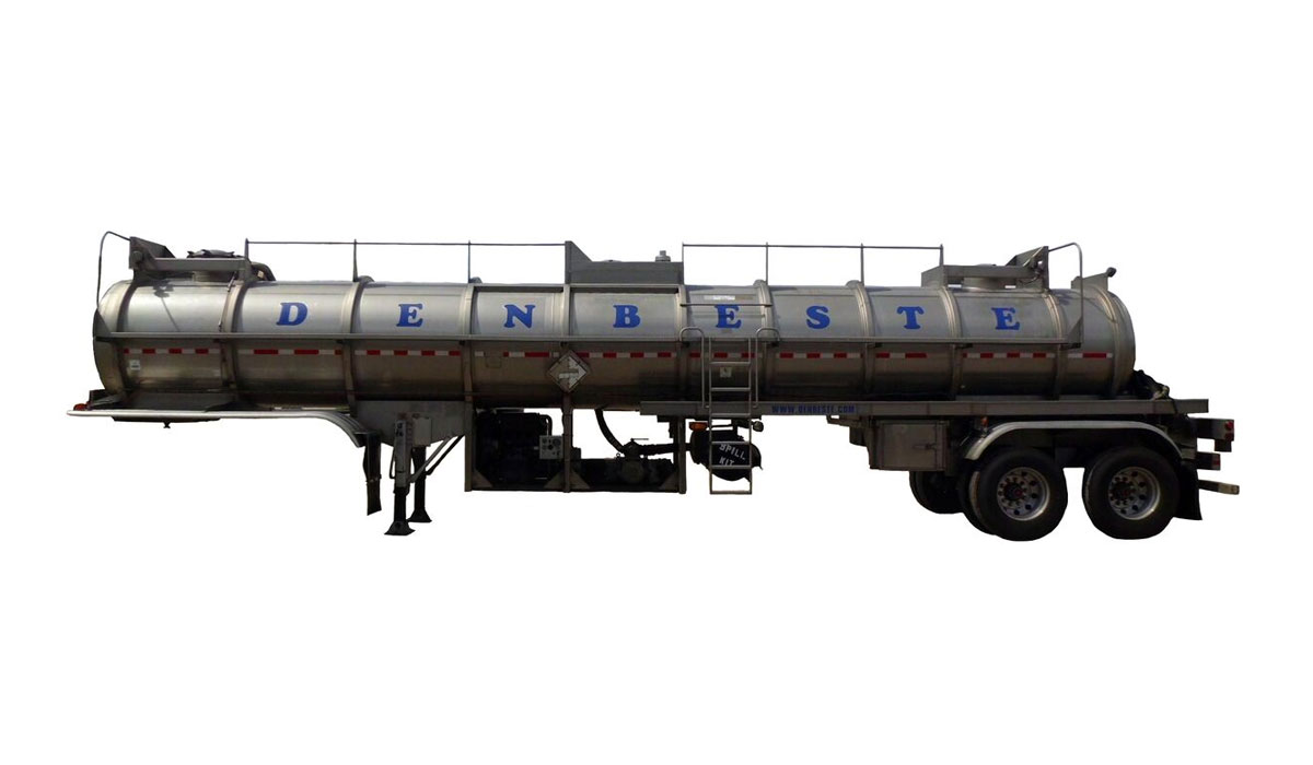Stainless steel vac Trailers at DenBeste Environmental Rental Equipment.